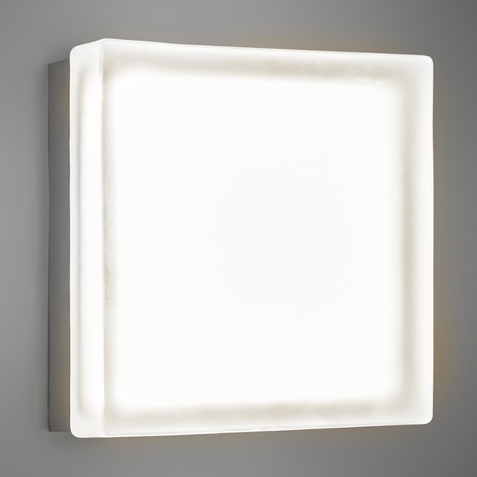 Quadratische LED-Wandleuchte Briq 02 warmweiß
