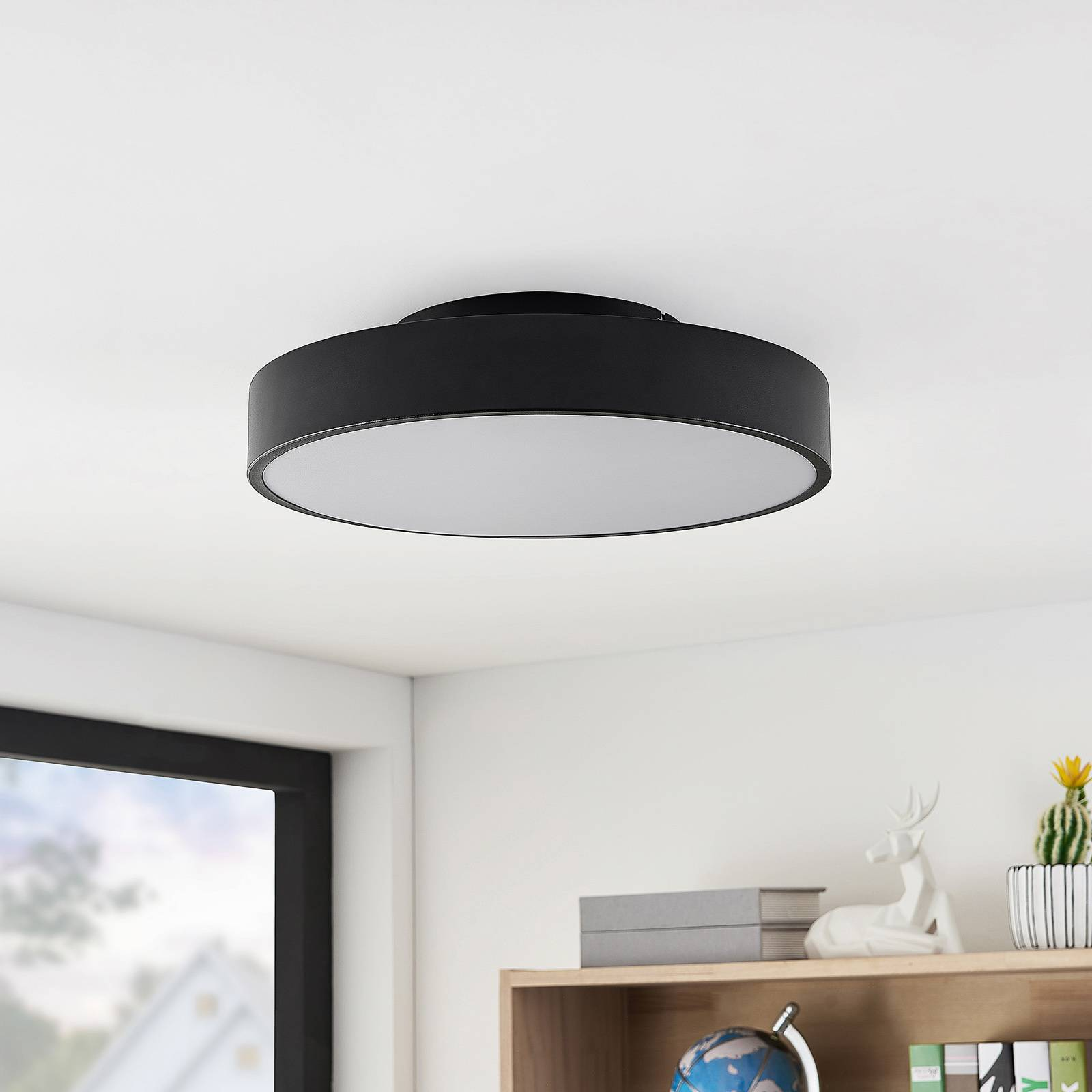 Lindby Milada LED plafondlamp, zwart