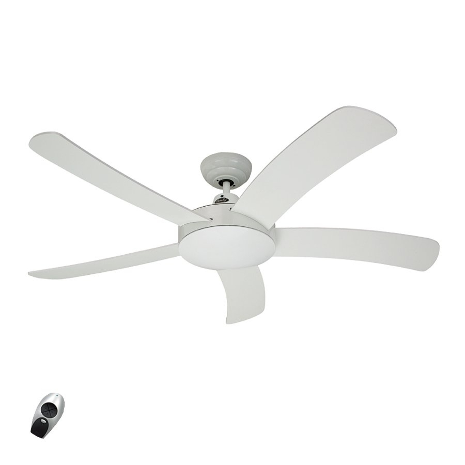 Ventilateur de plafond bois Falcetto blanc