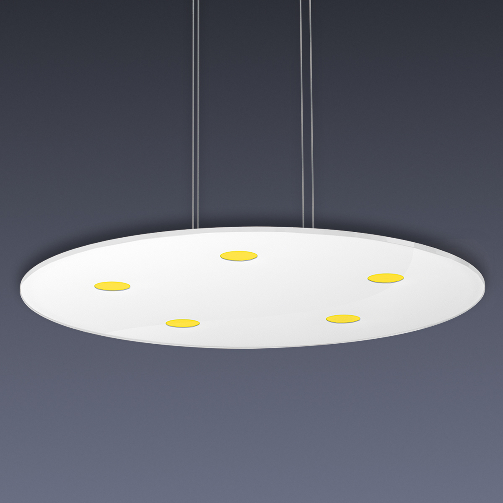 Suspension LED ronde Sunia avec variateur tactile