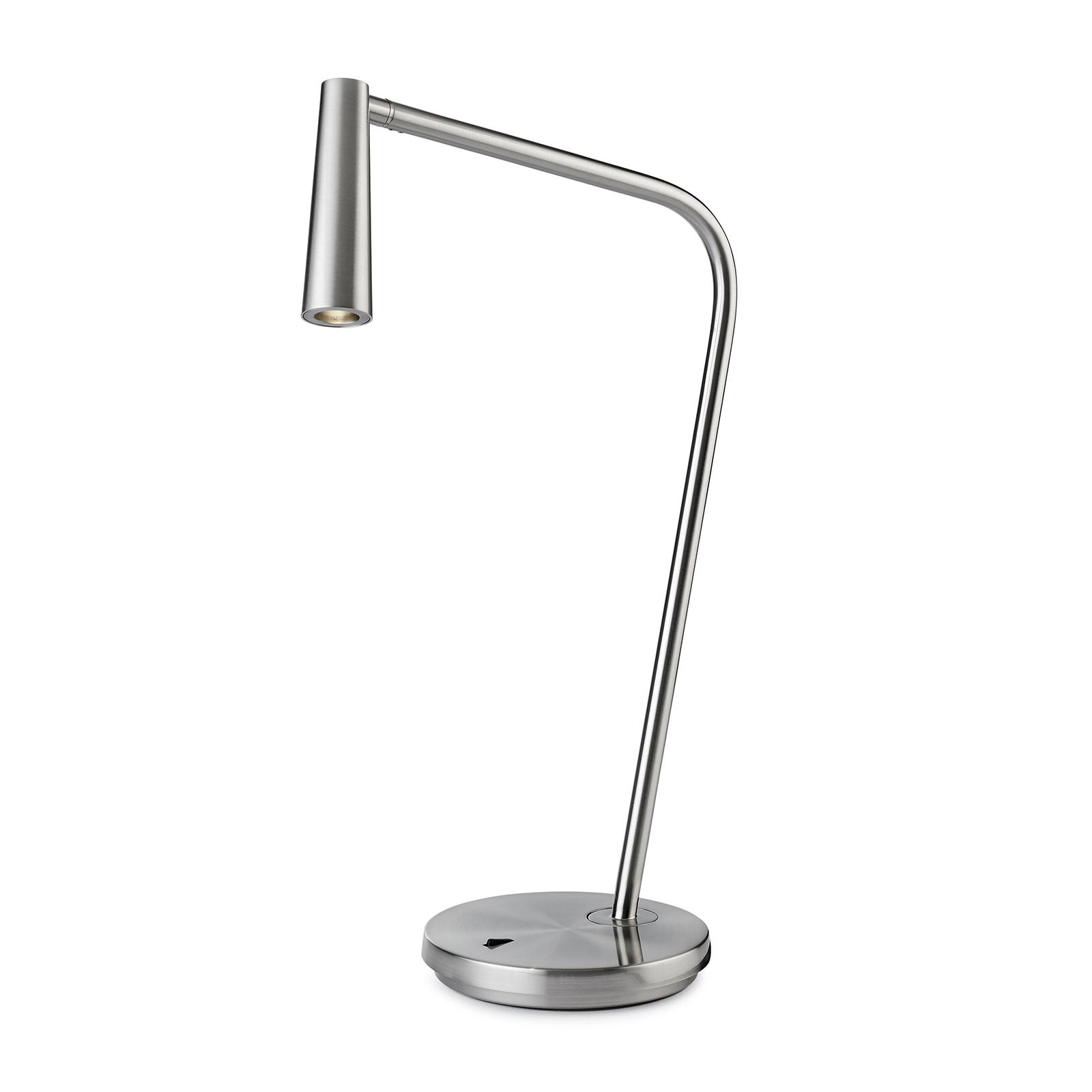 LEDS-C4 Gamma lampe à poser LED nickel satiné