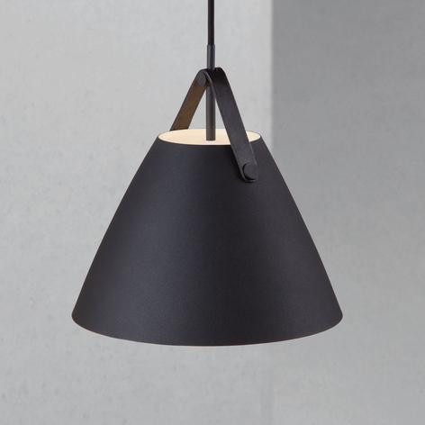 Strap hængelampe i sort, Ø 27 cm