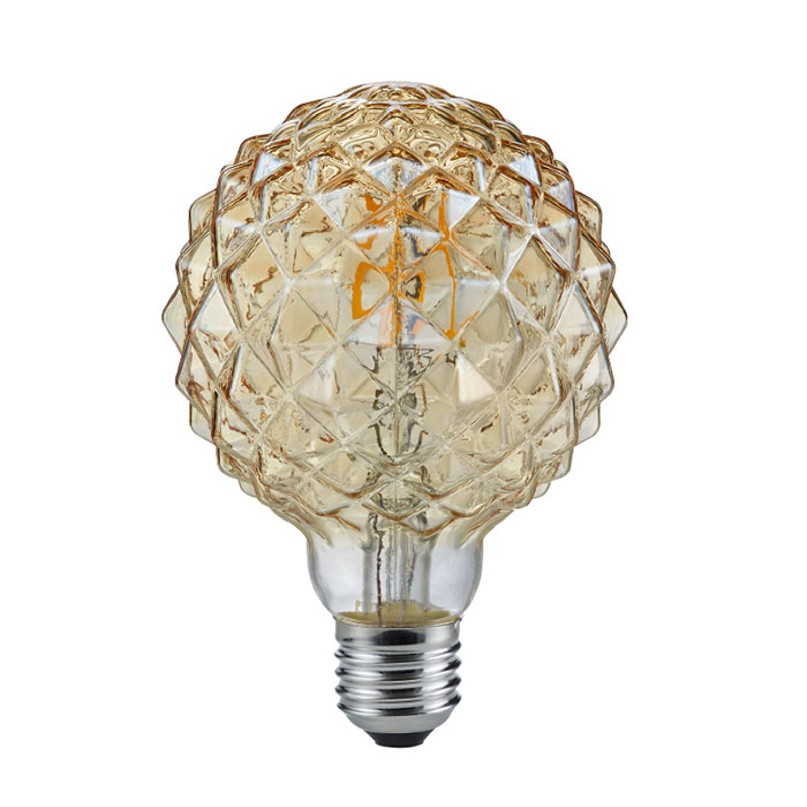 LED-Globelampe E27 4W 2.700K Struktur amber