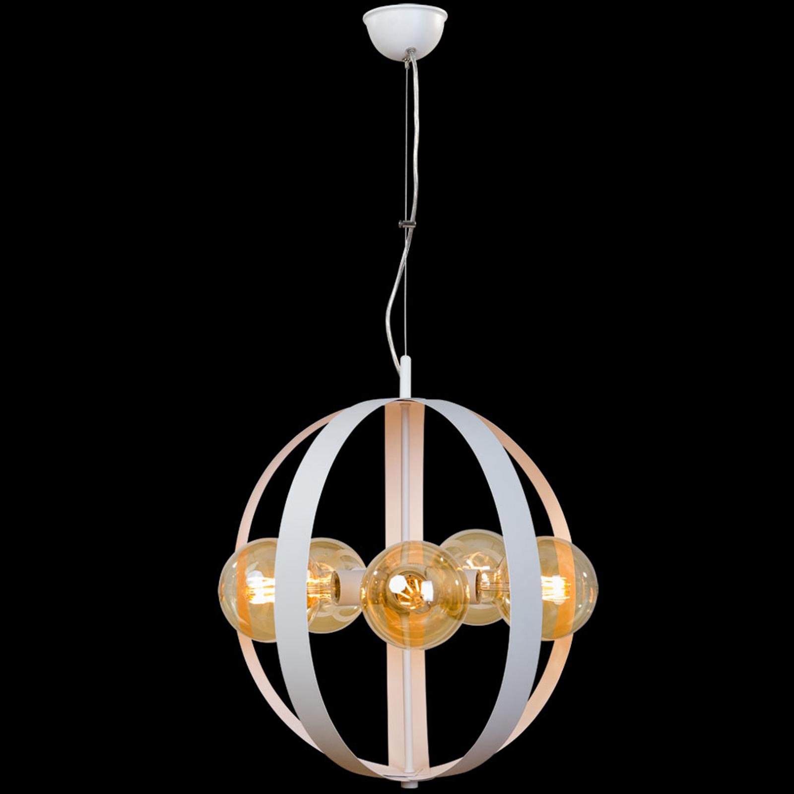 Hanglamp Livia, 5-lamps, wit