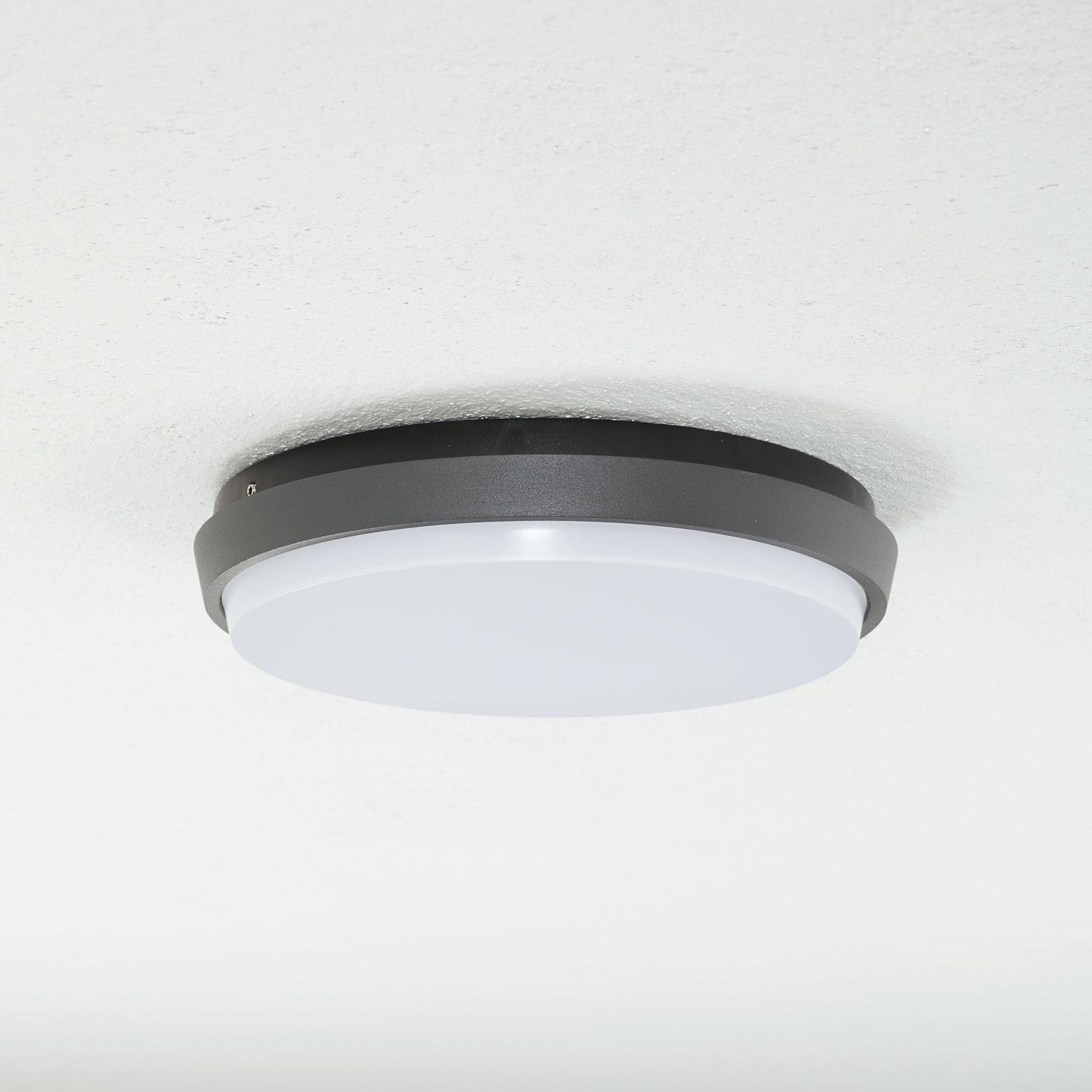 Lucande Amra plafonnier extérieur LED, rond, 24cm