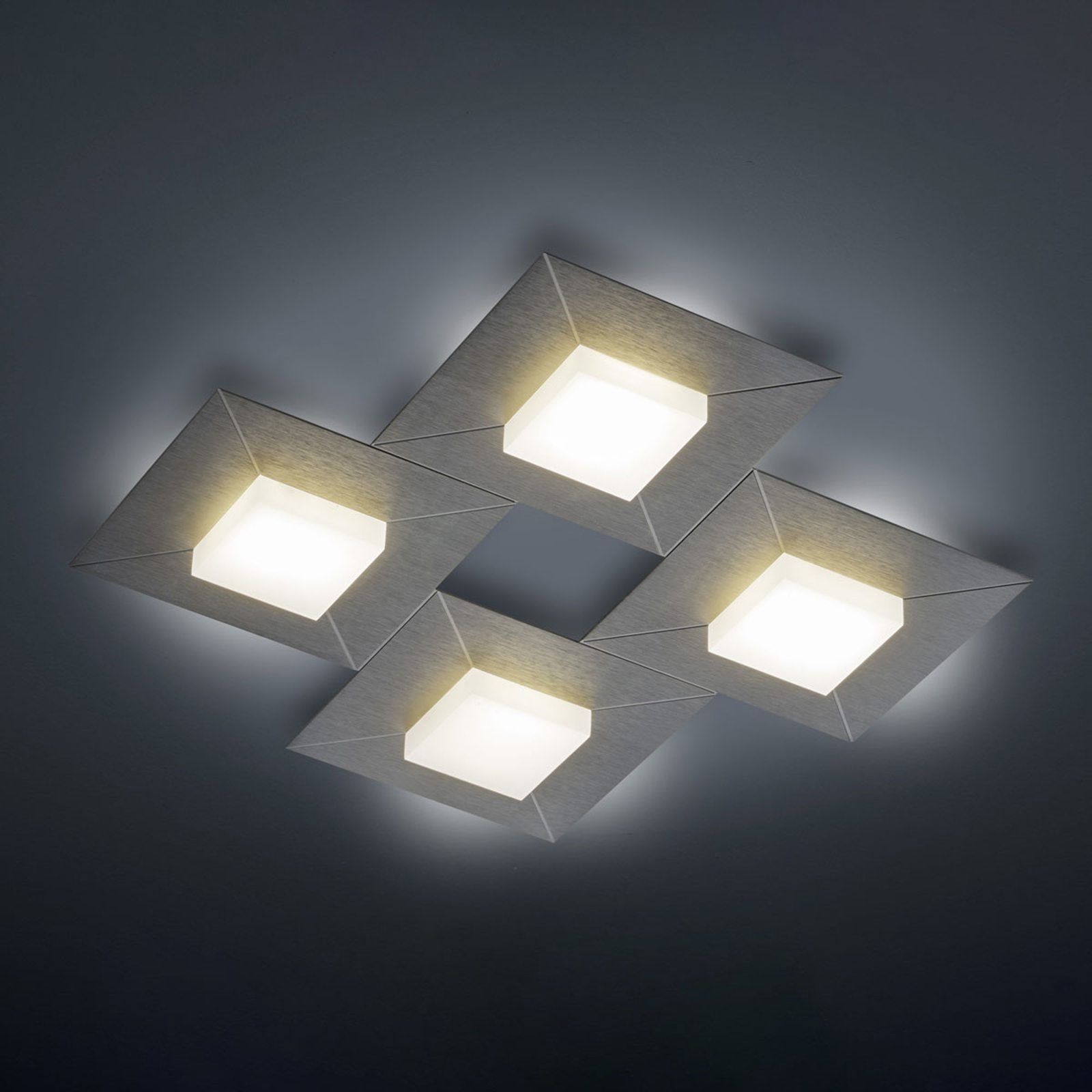 BANKAMP Diamond lampa sufitowa 42x42cm, antracyt