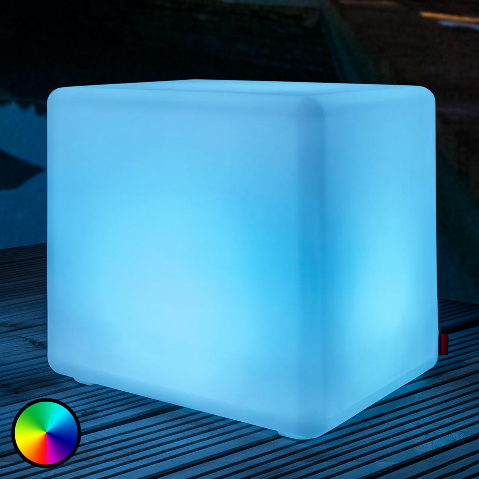 Kiehtova ulkokoristevalaisin Cube LED Accu Outdoor