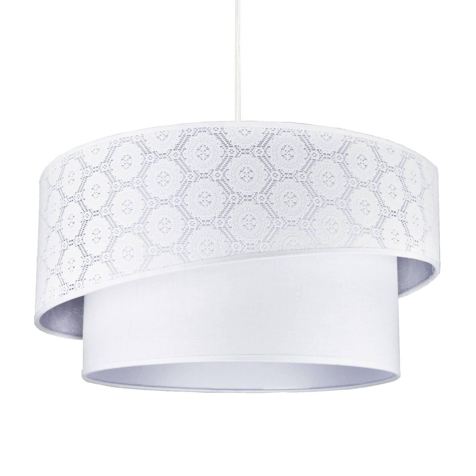 Hanglamp Shine, wit, met patroon