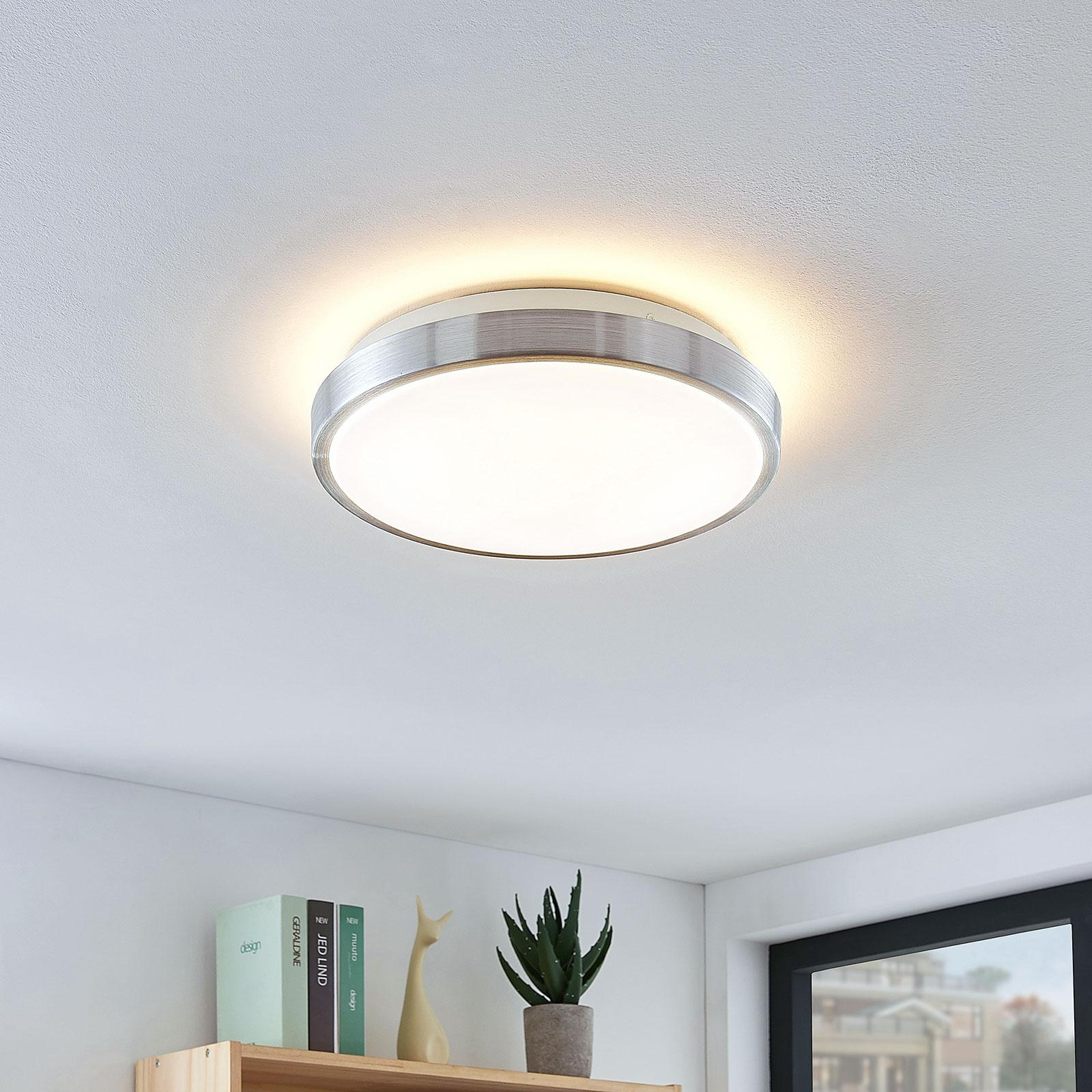 Lindby Emelie plafoniera LED rotonda, 27 cm