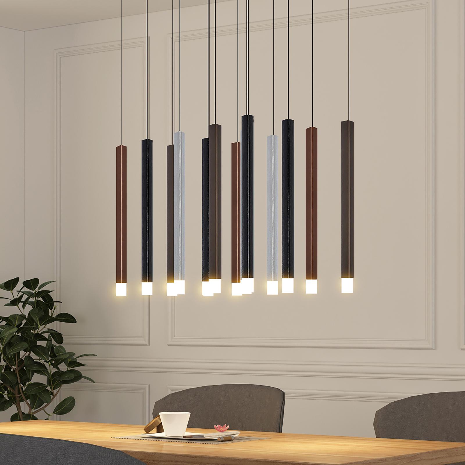 Lucande Stoika LED-hengelampe, 16 lyskilder kantet