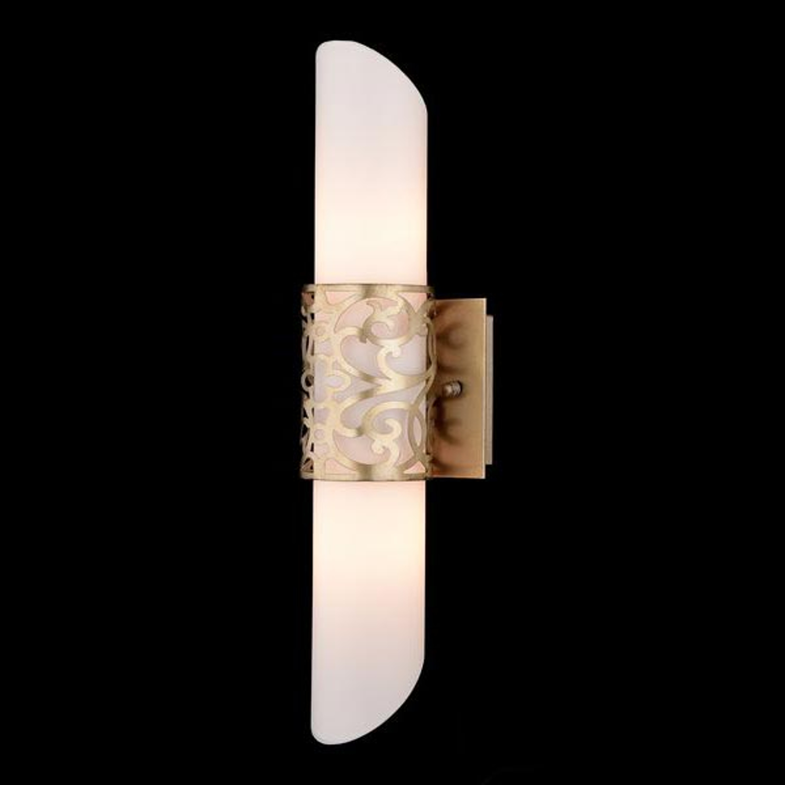 Röhrenförmige Glas-Wandleuchte Venera - gold