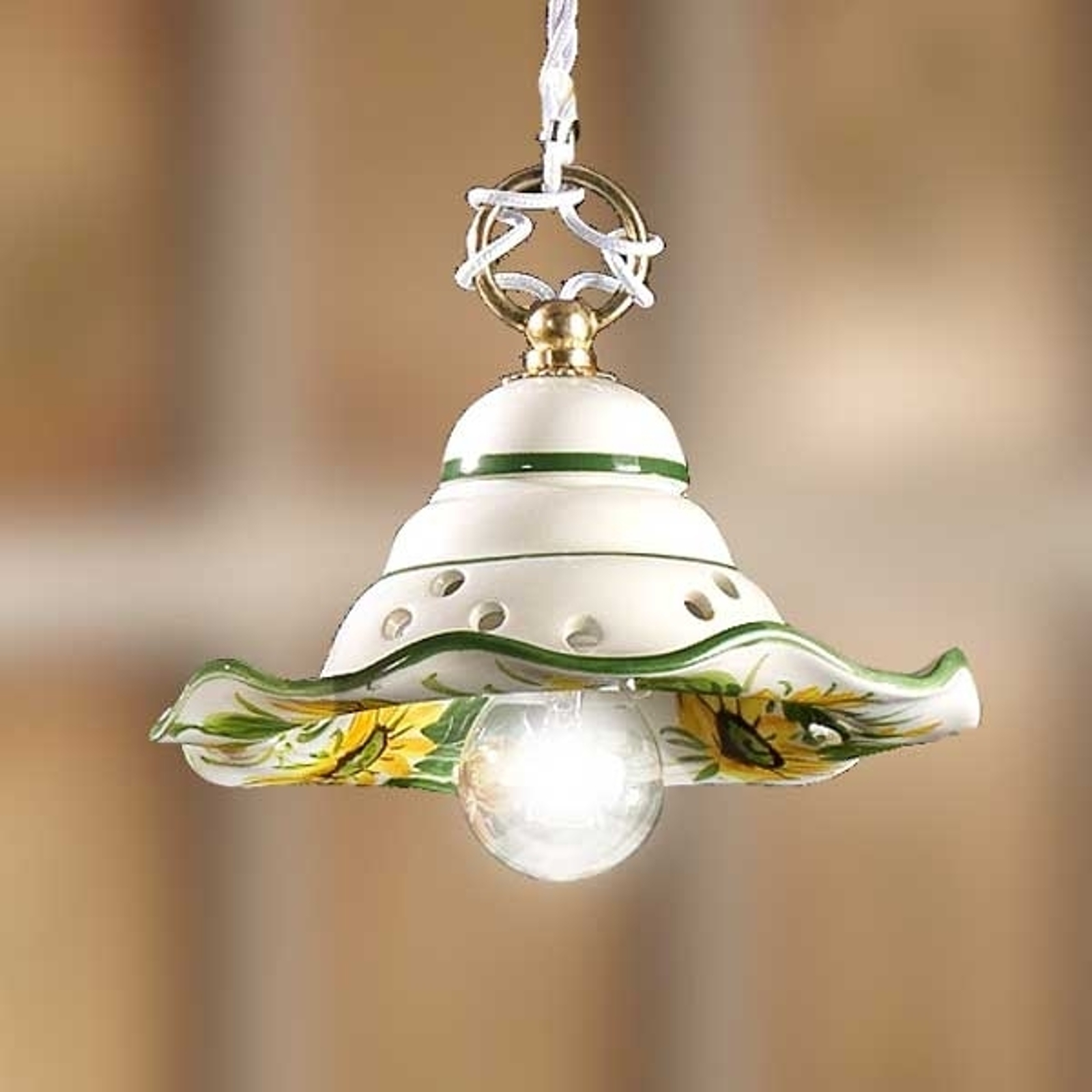 Mała lampa wisząca GIRASOLA z stylu dworkowym