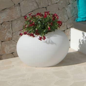 Dekolampe Storus IV, bepflanzbar, weiß transluzent