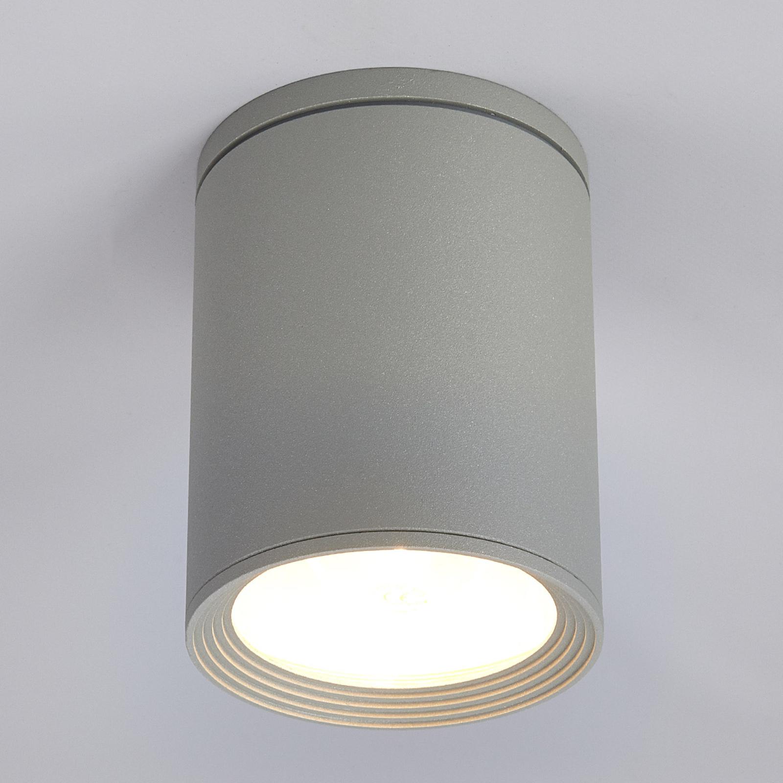 Okrągły reflektor sufitowy Minna, szaro-srebrny
