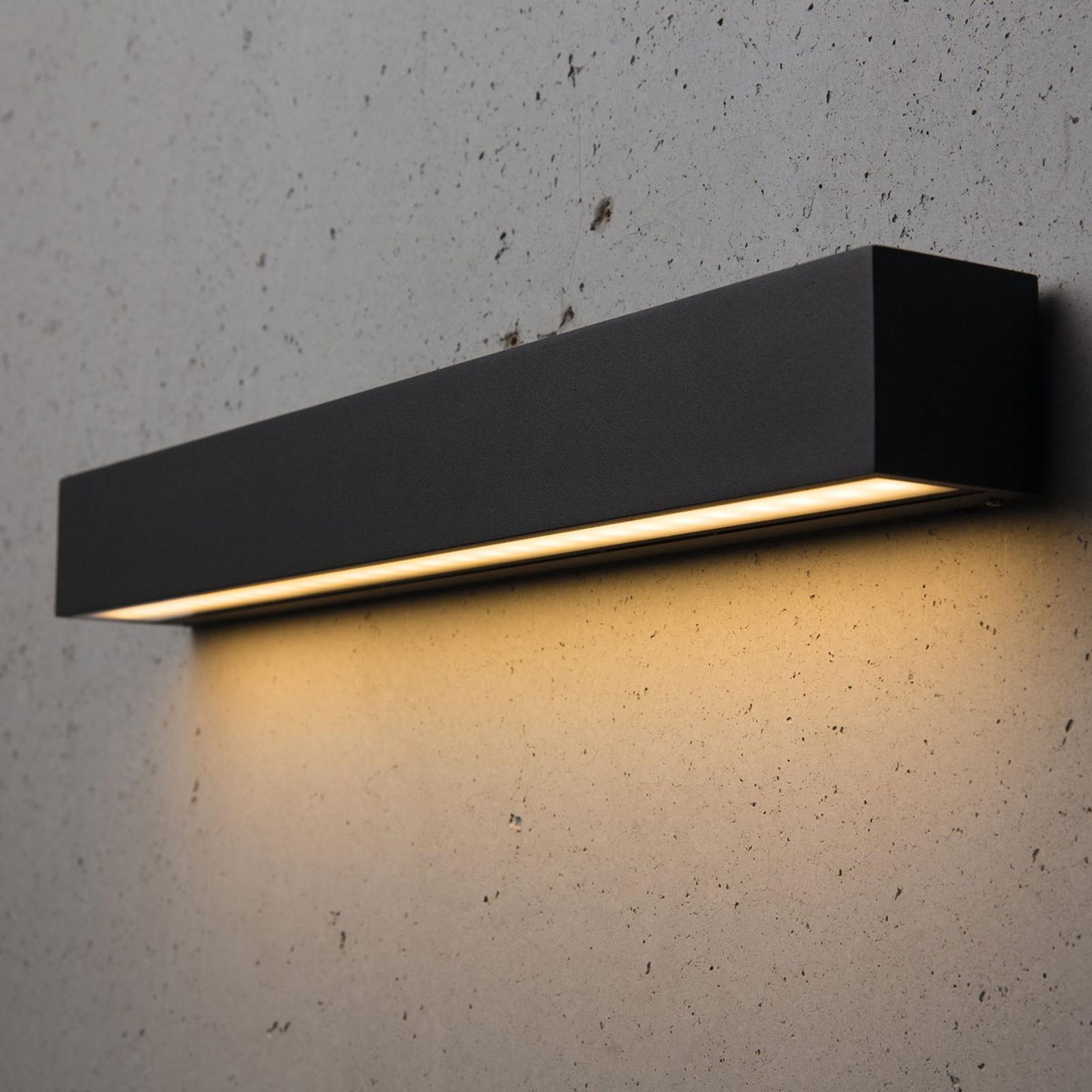 Smalle LED buitenwandlamp Medea 50 cm