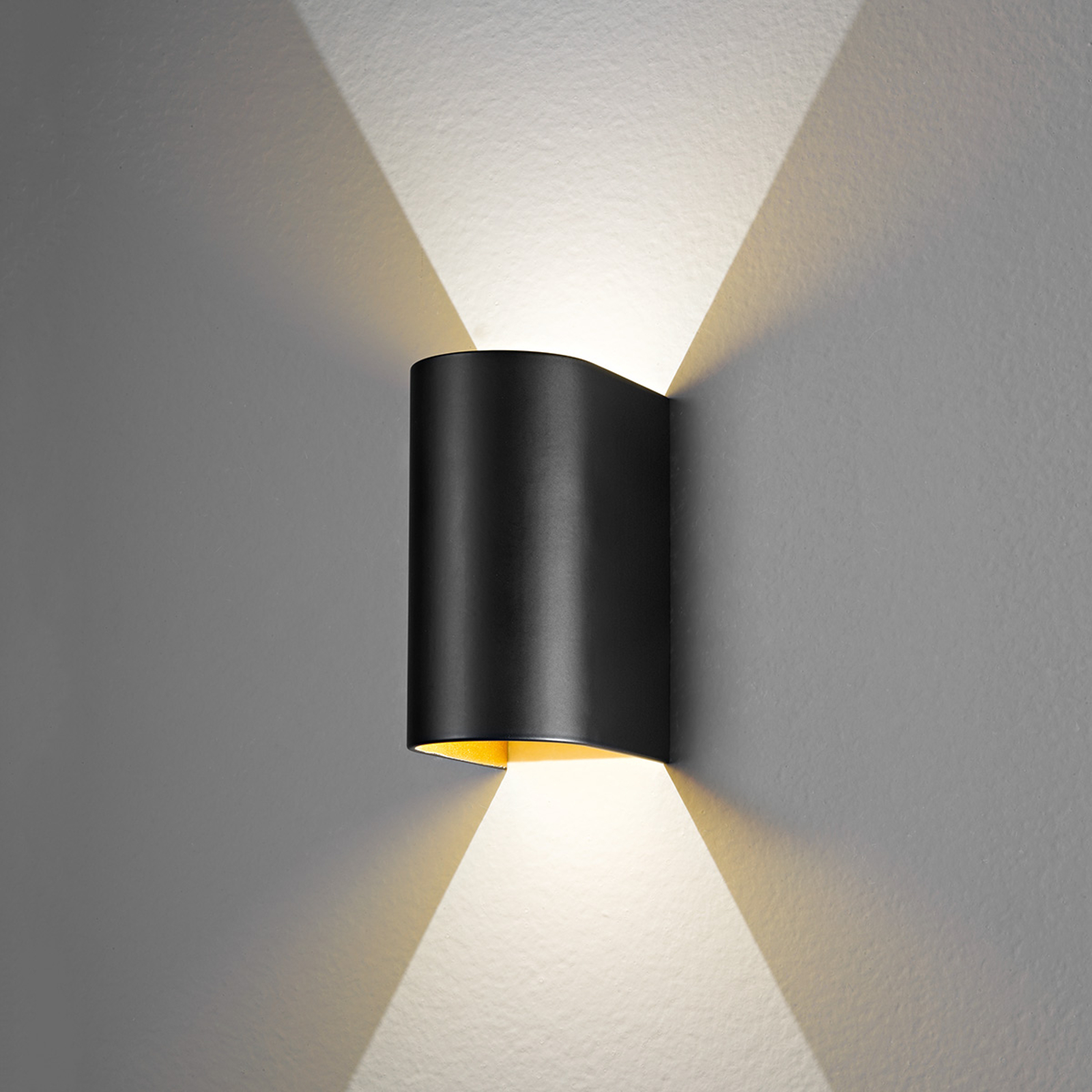 Applique LED Feeling, dorata-nera