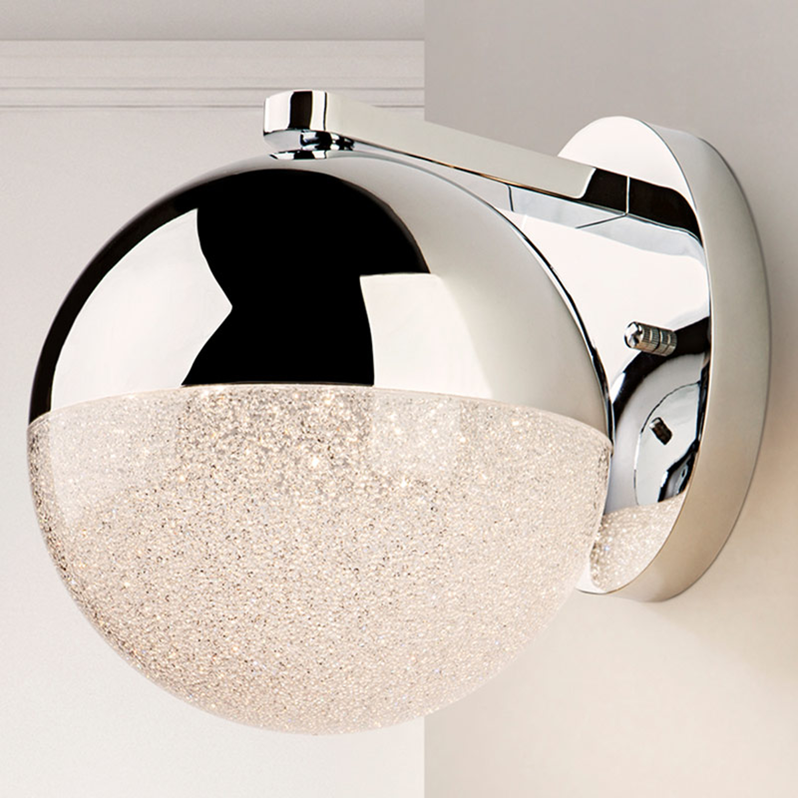 Kinkiet LED Sphere, chrom