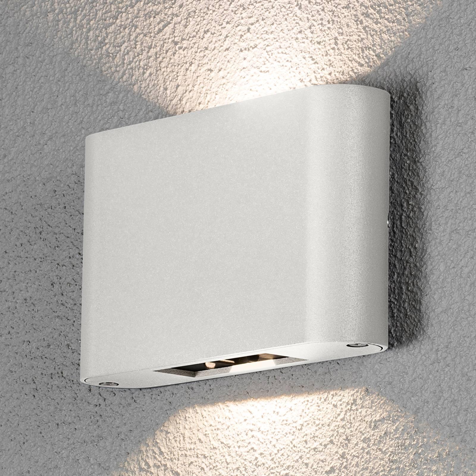 Applique d'ext. LED Chieri 2 lampes 18cm blanche