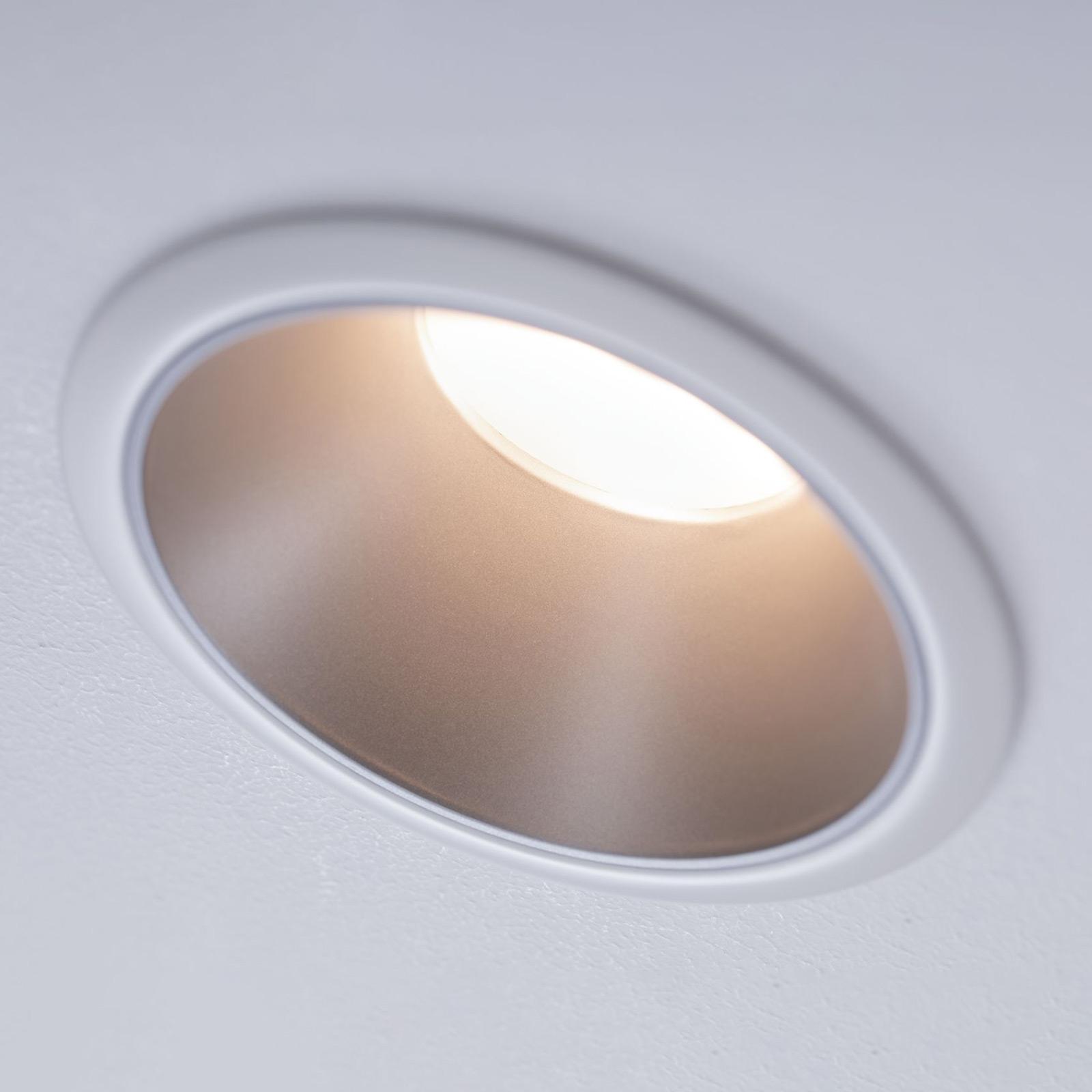 Paulmann Cole LED spotlight, stříbro-bílý
