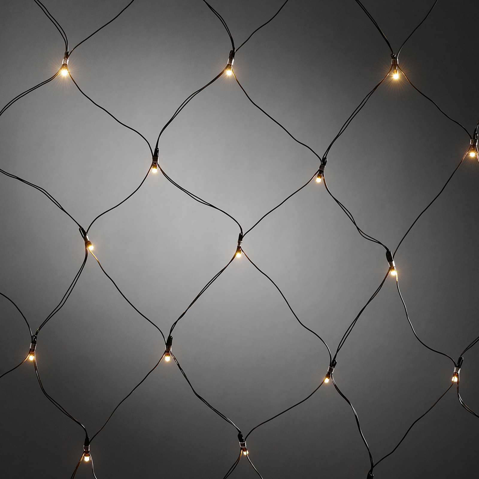 För utomhusbruk - LED-ljusnät med timer 40 arm. vv