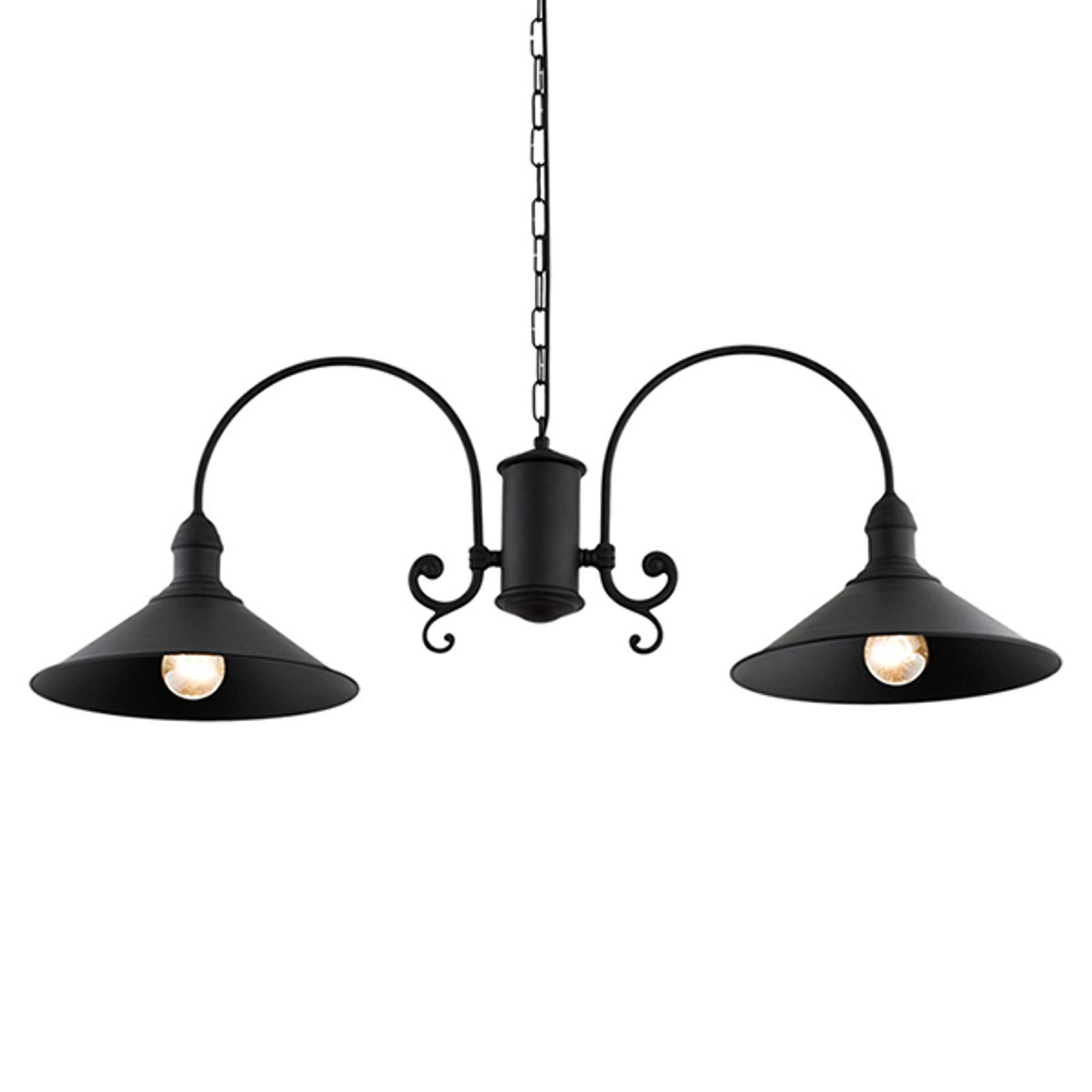 Elmo hængelampe, 2 lyskilder, sort