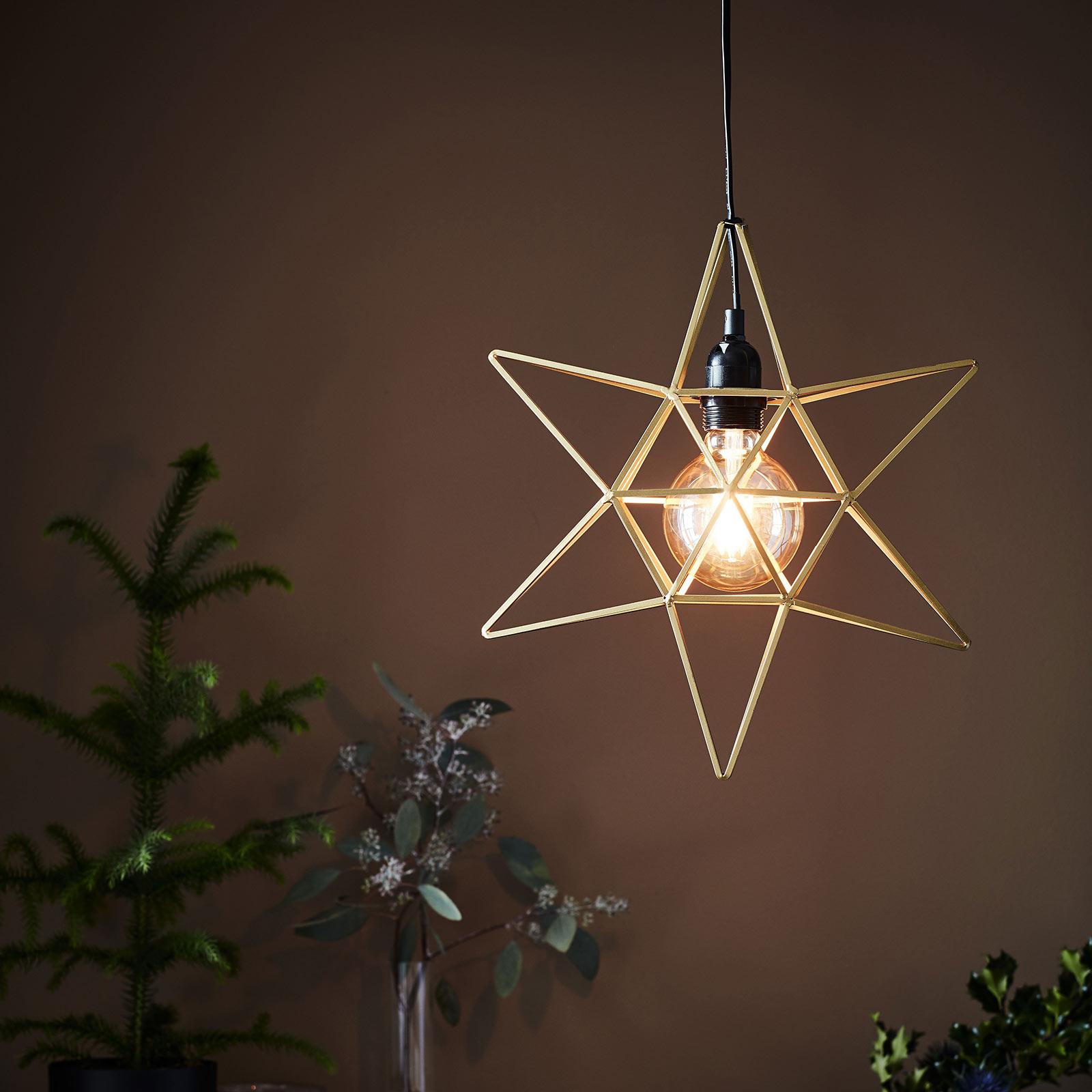 Gwiazda Contour jako lampa wisząca, złota