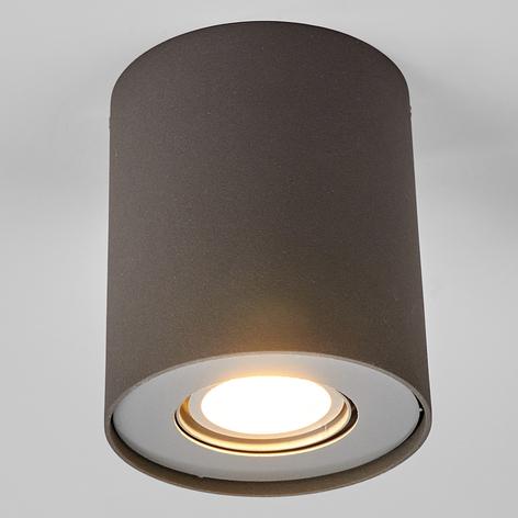 GU10 LED-downlight Giliano, 1 lampa, rund, grafit