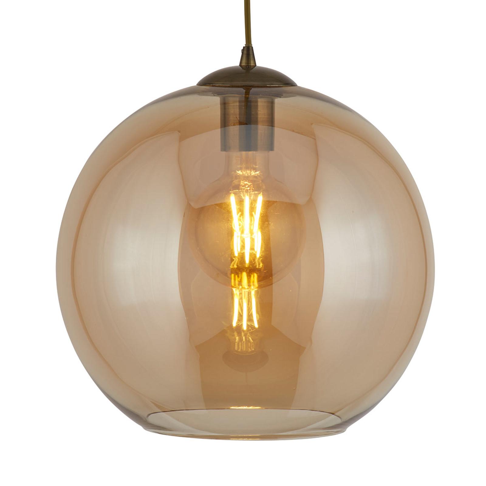 Suspension Balls avec verre de lampe ambré 25 cm