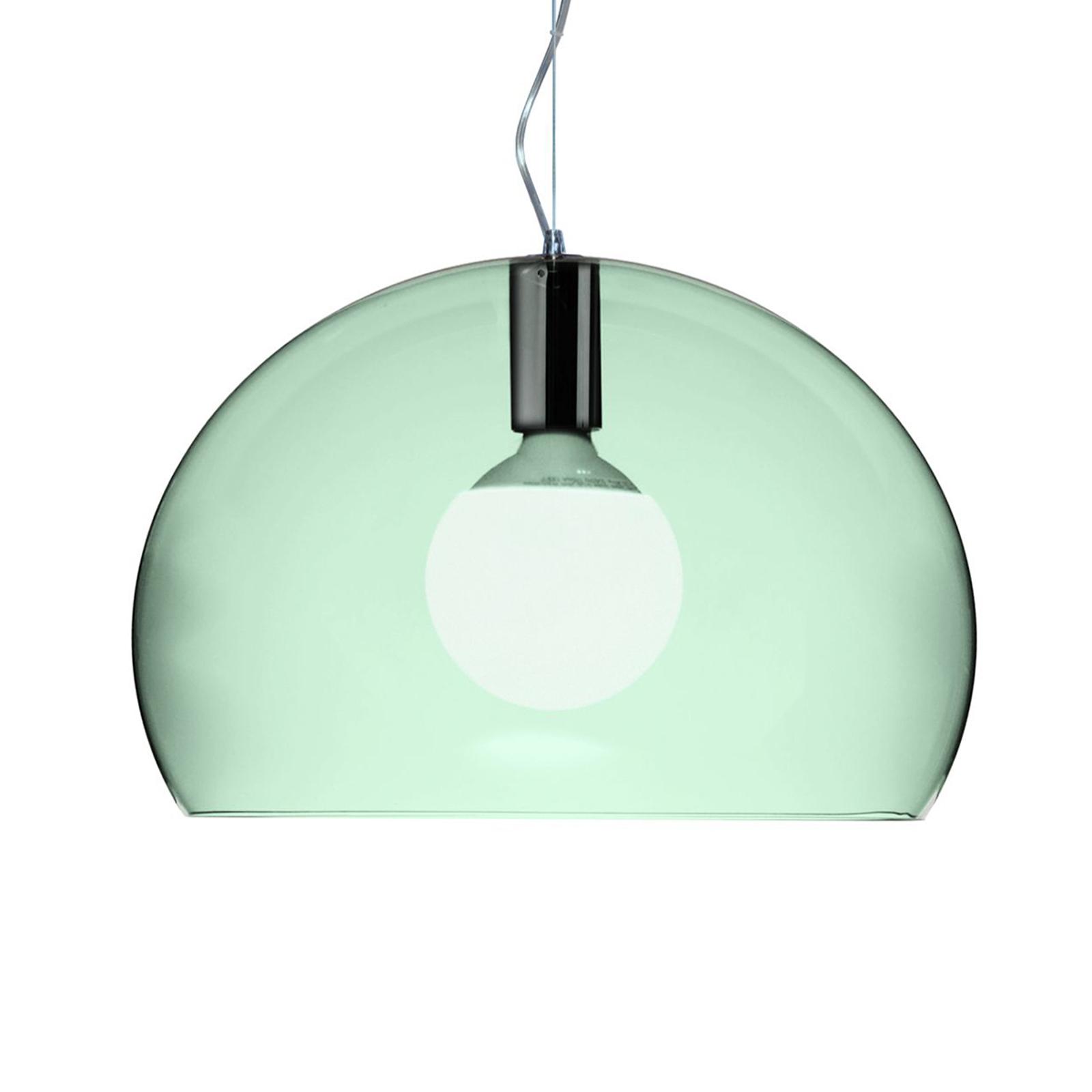 Kartell Small FL/Y LED-Hängeleuchte salbeigrün