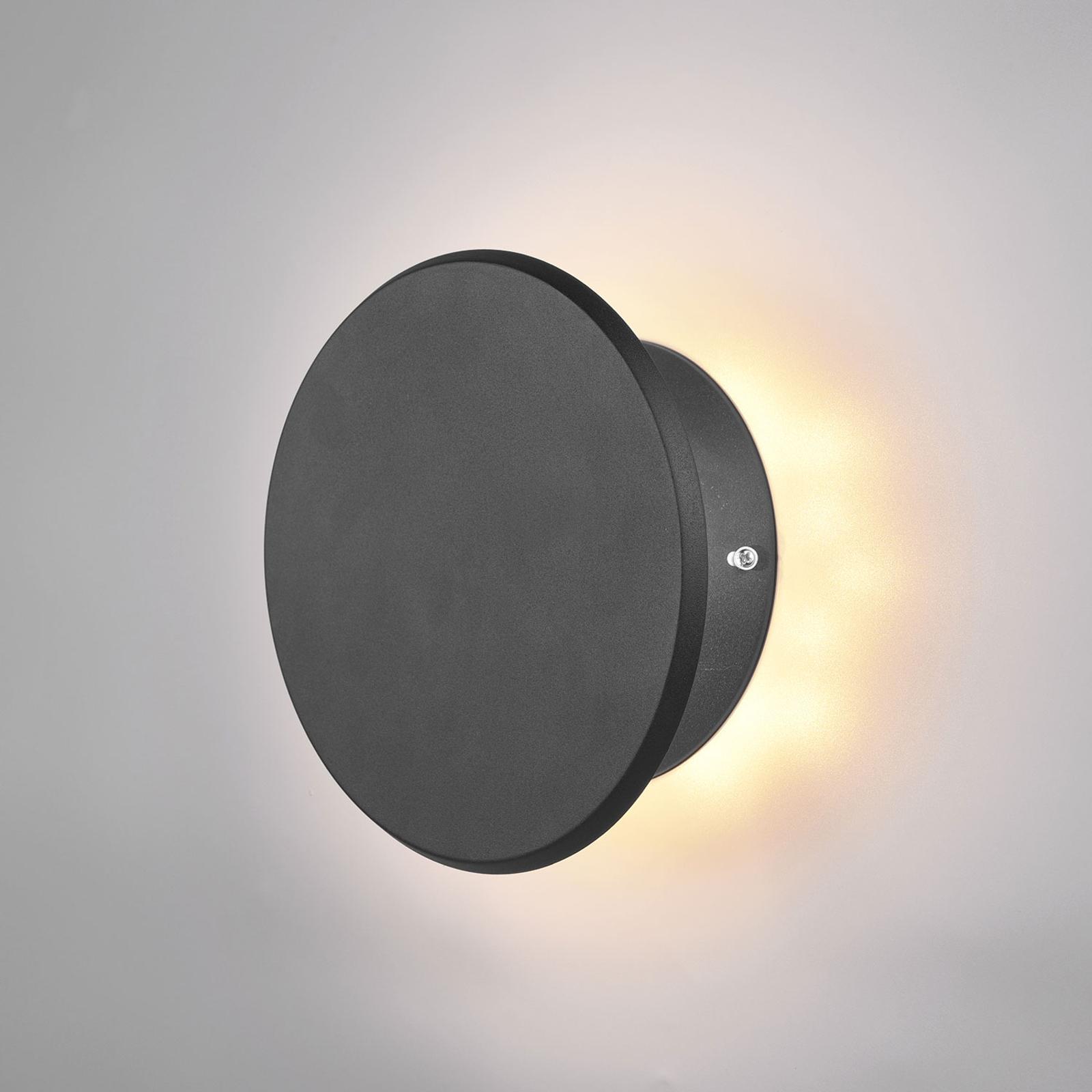 LED-Wandleuchte Gaston, schwenkbar, schwarz