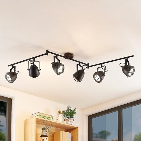 Lindby Adeon plafonnier LED, à 6 lampes