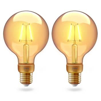 Innr globe LED E27 filament 2200K 4,2W doré par 2