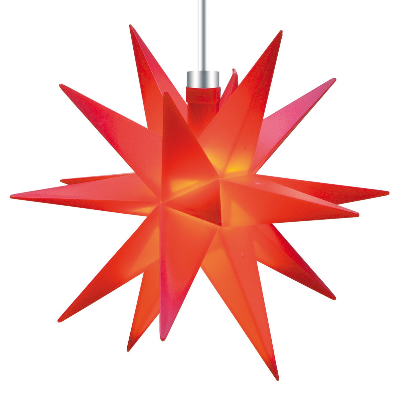 Étoile 18 branches rouge 12cm