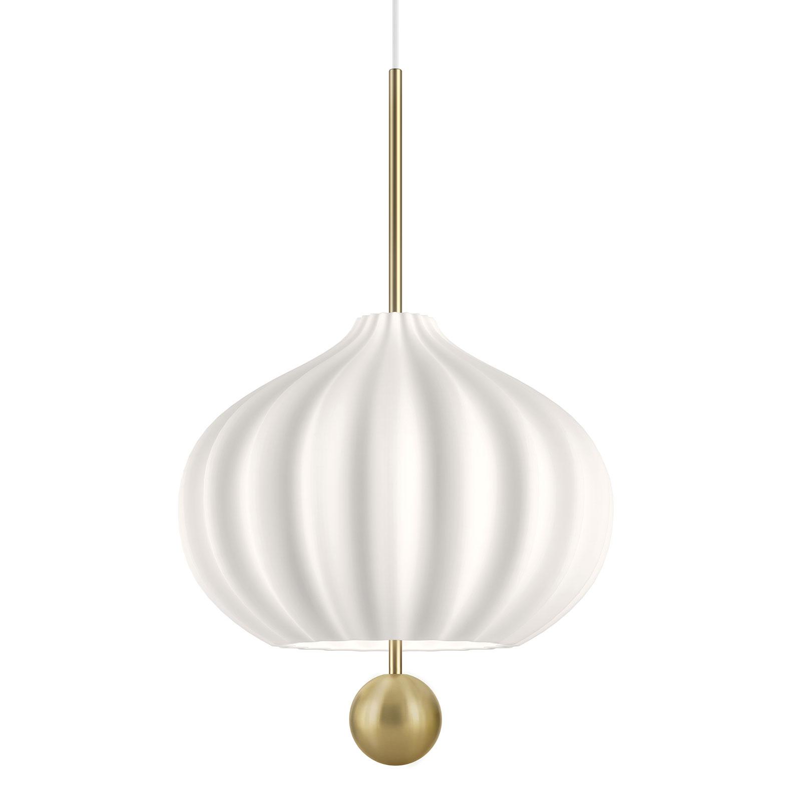 Kundalini Lilli hanglamp van glas en messing