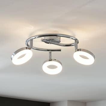 Lámpara LED de techo Ringo 3 luces espiral
