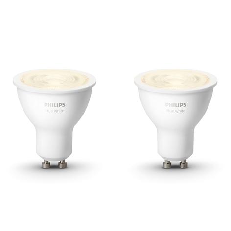 Philips Hue White bombilla LED 5,2 W GU10 set de 2