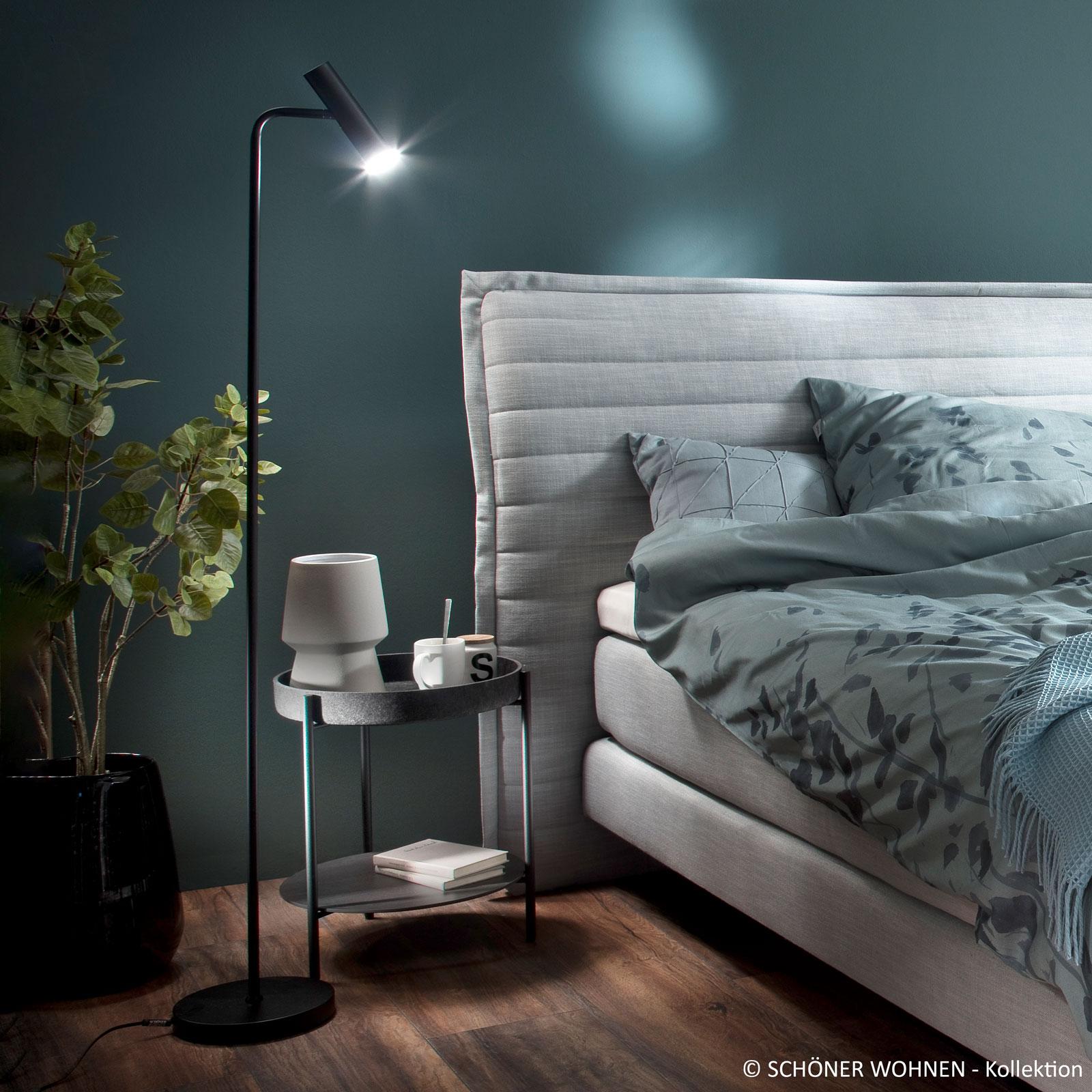 Schöner Wohnen Stina LED-gulvlampe, svart