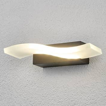 Vågformig LED-utomhusvägglampa Jirka