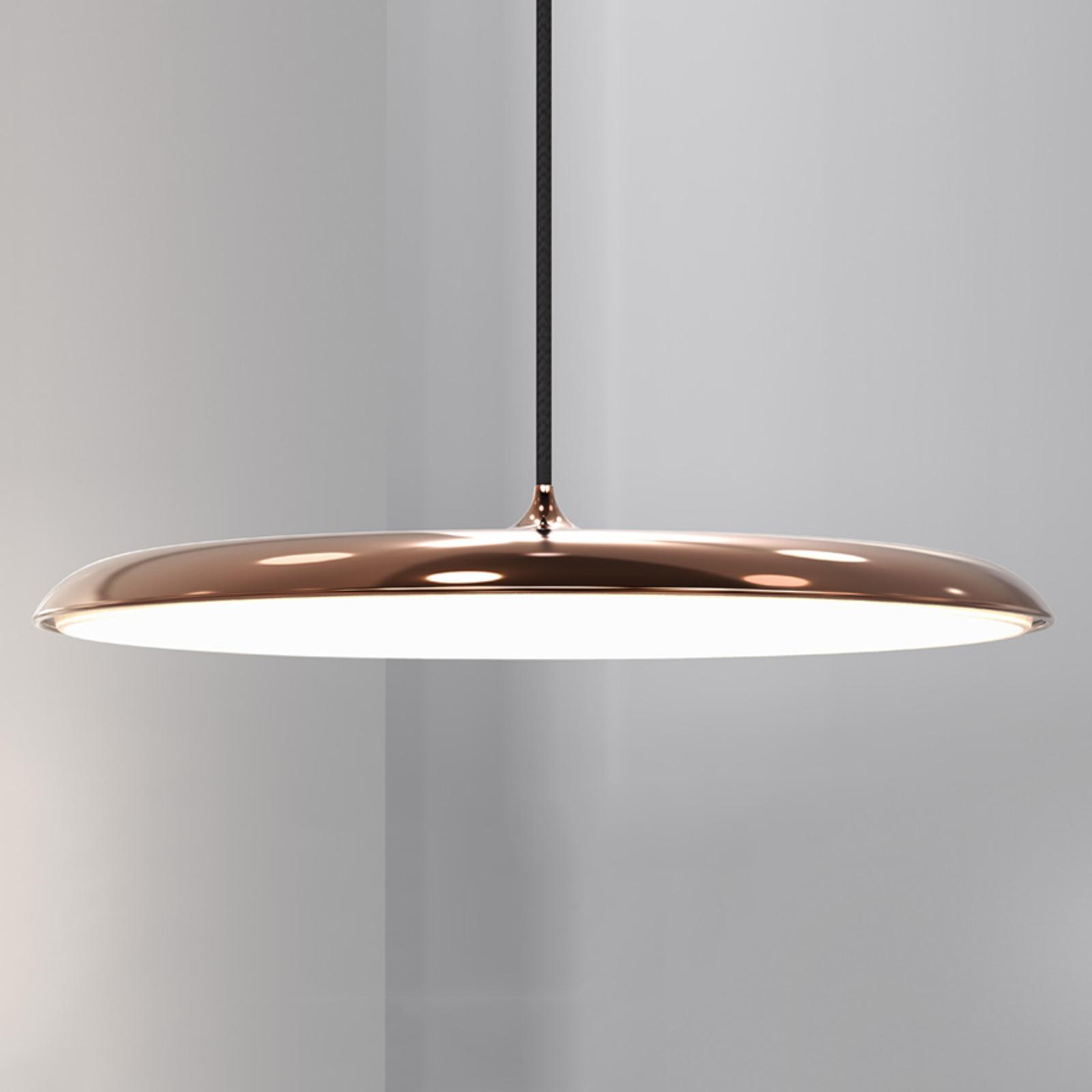 lampada piatta a sospensione LED Artist 40, rame