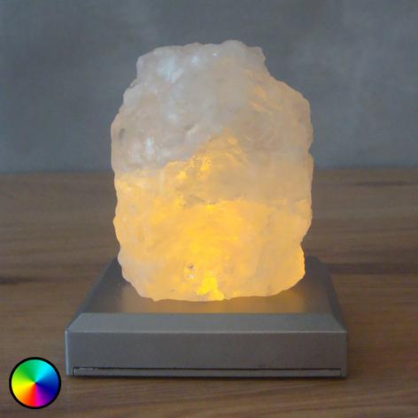 Lámpara de mesa LED Montaña de Sal con baterías