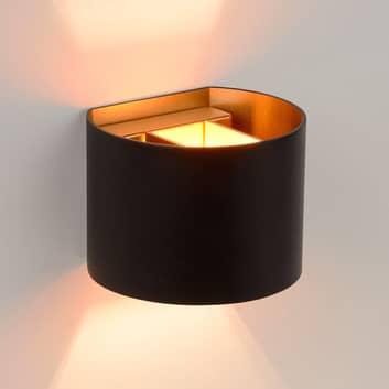 Aplique LED semicircular Xio en negro