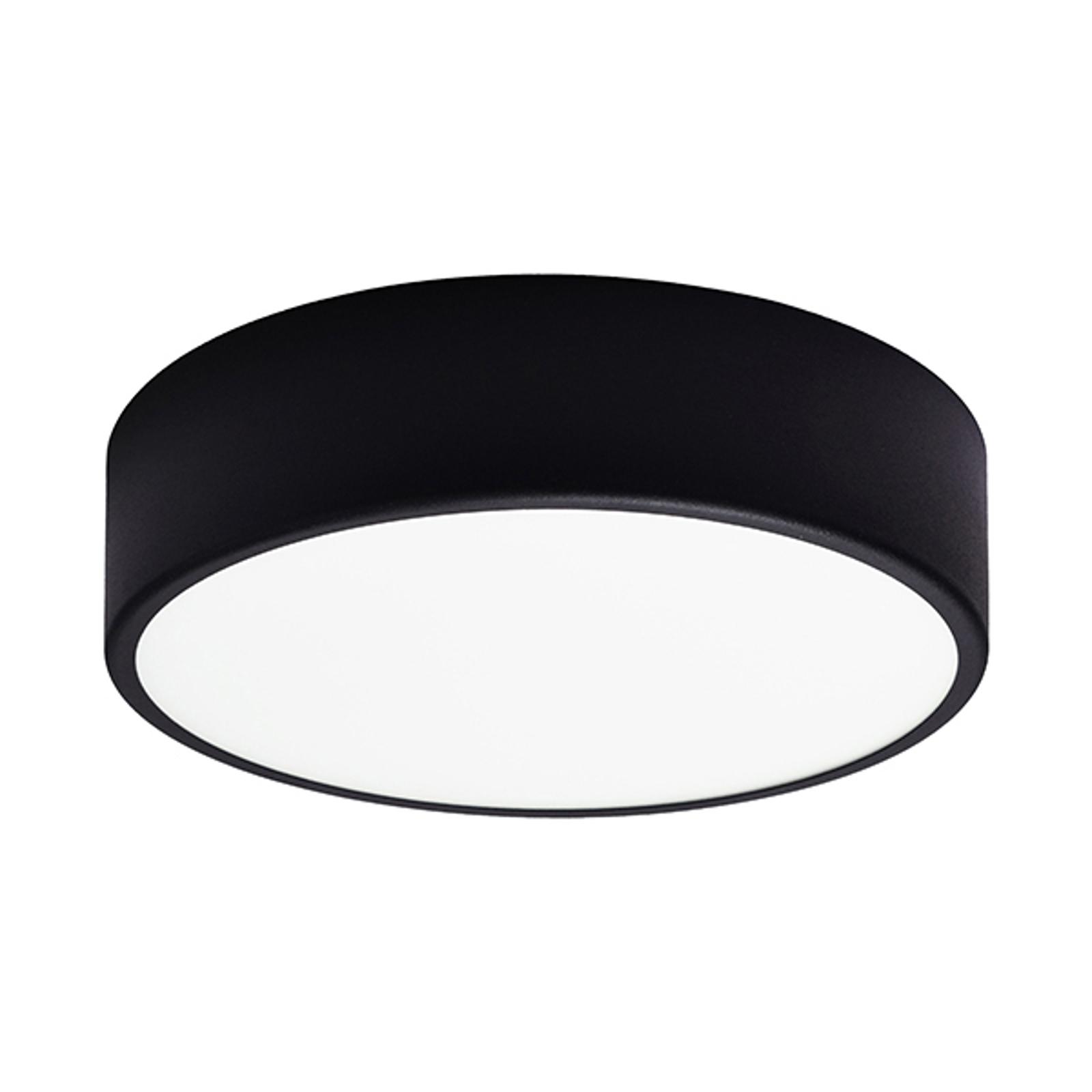 Stropní světlo Cleo, Ø 30 cm, černá