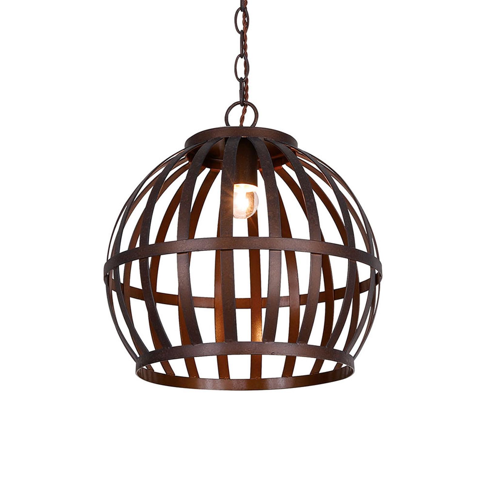 Lampa wisząca Ralph, klatka, brązowa, Ø 35 cm