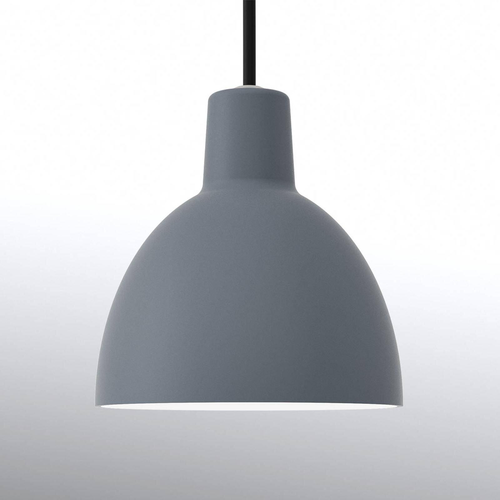 Minimalistische hanglamp Toldbod 120, blauwgrijs