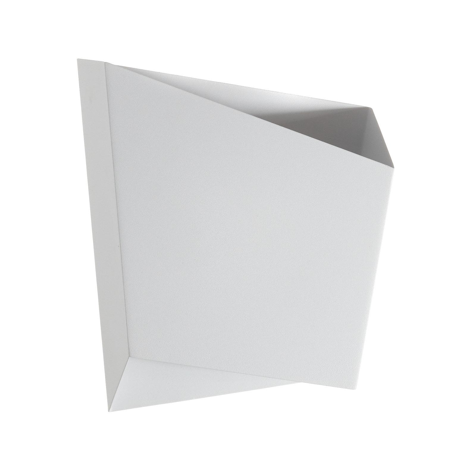 Wandleuchte Asimetric aus Stahl, weiß