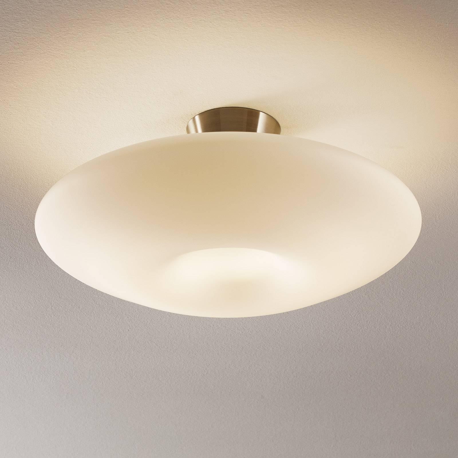 Plafondlamp Malu van zijdemat opaalglas