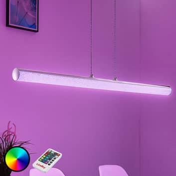 LED hængelampe Fria, cylinder, RGB, fjernbetjening