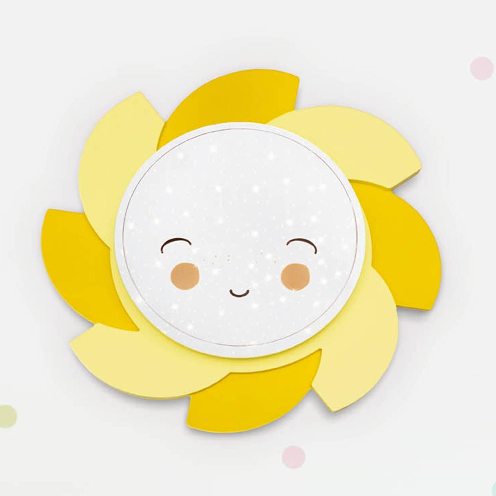 LED-Wandleuchte Sonne Starlight Smile, gelb