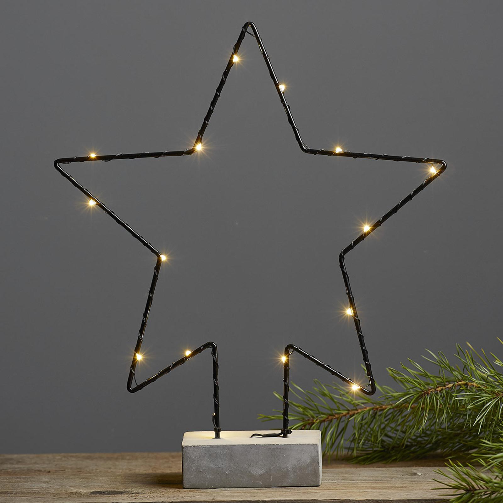 Betonfod dekorationslampe Cemmy stjerneform