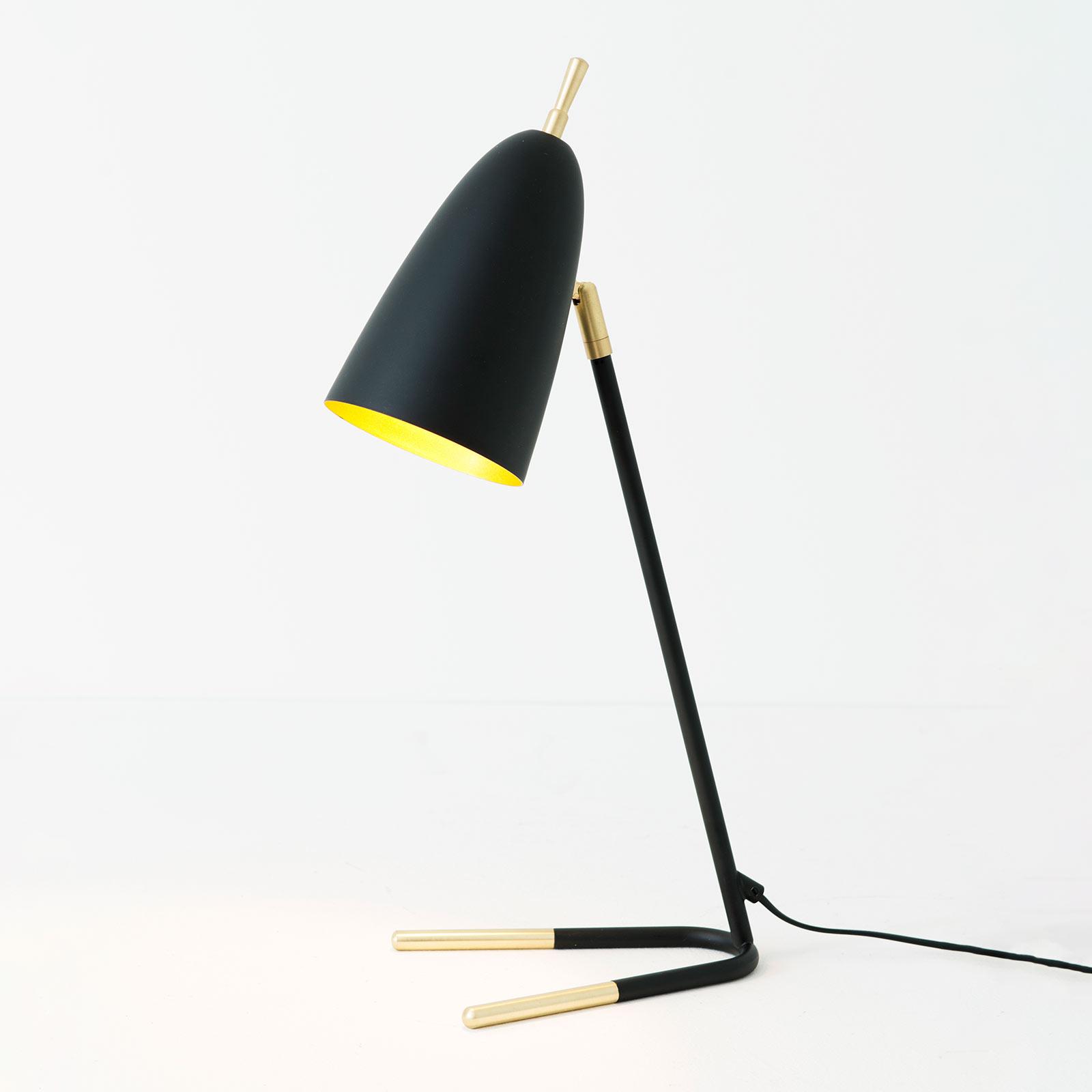Lampada da tavolo Obelisco, orientabile, nero